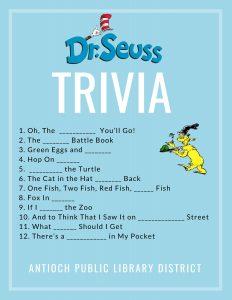 Dr. Seuss Trivia